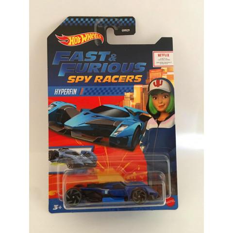Hot Wheels - Hyperfin Azul - Fast & Furious Spy Racers