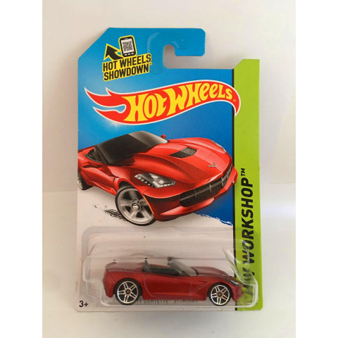 Hot Wheels - 14 Corvette Stingray Vermelho - Mainline 2014