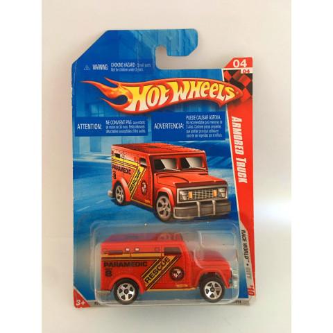Hot Wheels - Armored Truck Vermelho - Mainline 2010