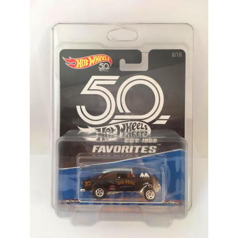 Hot Wheels - 55 Chevy Bel Air Gasser Preto - 50 Years Favorites - Kroguer Exclusivo