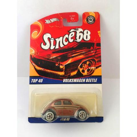 Hot Wheels - Volkswagen Beelte Marron - Since 68 - Leia Descrição