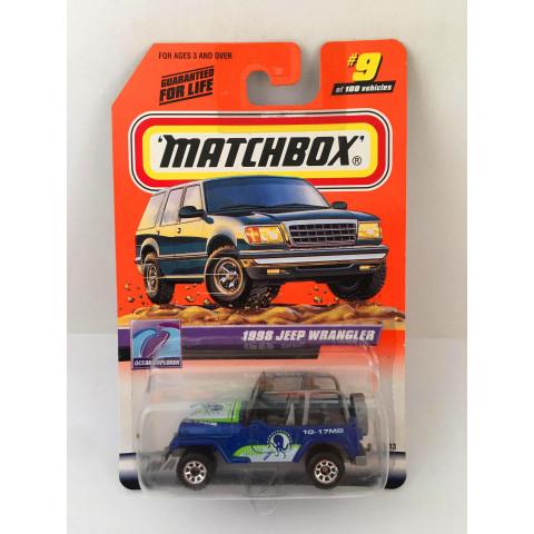 Matchbox - 1998 Jeep Wrangle Azul - Básico 2000