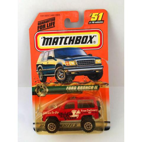 Matchbox - Ford Bronco II Vermelho - Básico 1998