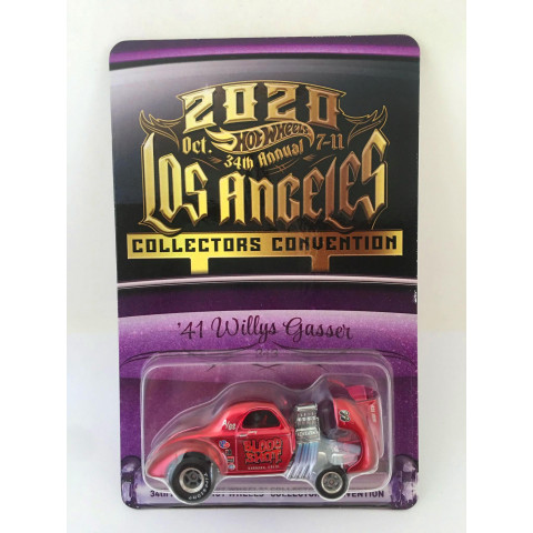 Hot Wheels - 41 Willys Gasser Vermelho - 2020 Oct. 34Th Annual 7-11 Los Angeles Collectors Convention