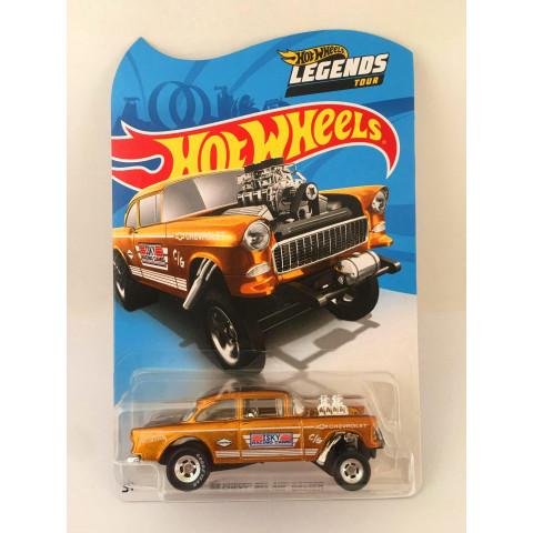 Hot Wheels - 55 Chevy Bel Air Gasser Dourado - Legends Tour
