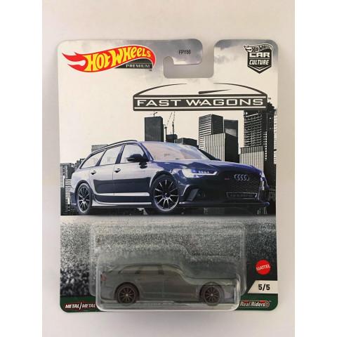 Hot Wheels - 17 Audi Rs 6 Avant - Fast Wagons - Car Culture