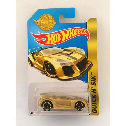 Hot Wheels - Quick N' Sik Dourado - Mainline 2014