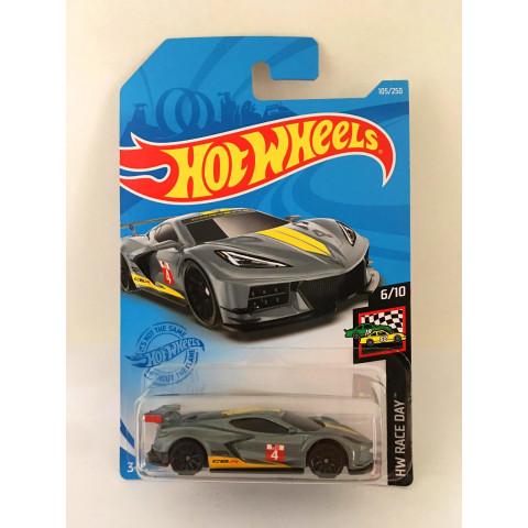 Hot Wheels - Corvette C8.R Cinza - Mainline 2021