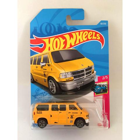 Hot Wheels - Dodge Van Amarelo - Mainline 2021