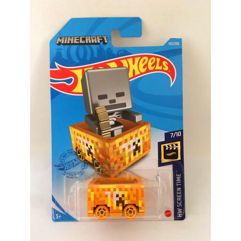 Hot Wheels - Minecart Amarelo - Minecraft - Mainline 2021