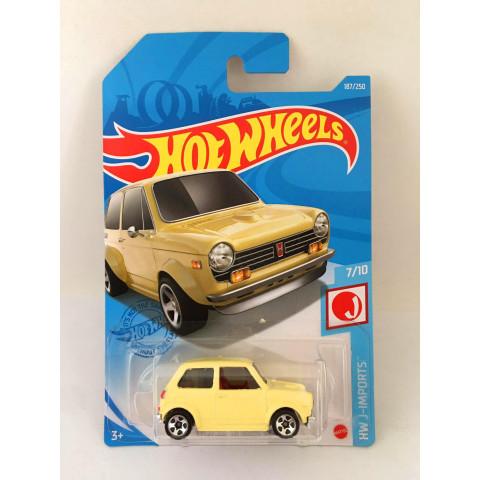 Hot Wheels - Custom 70 Honda N600 Amarelo - Mainline 2021