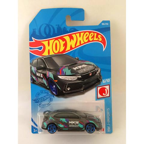 Hot Wheels - 2018 Honda Civic Type R Cinza - Mainline 2021