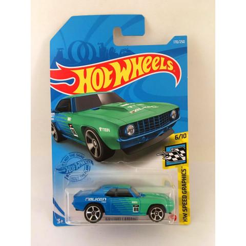 Hot Wheels - 69 Copo Camaro Azul/Verde - Mainline 2021