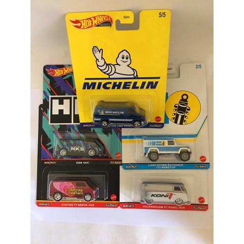 Hot Wheels - Set Speed Shop Garage - Pop Culture - Com 5 Miniatura