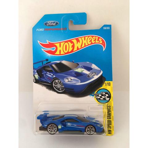 Hot Wheels - 2016 Ford GT Race Azul - Mainline 2016