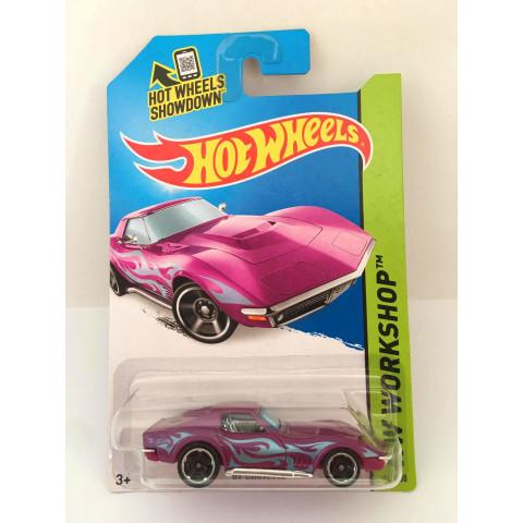 Hot Wheels - 69 Corvette Roxo - Mainline 2014