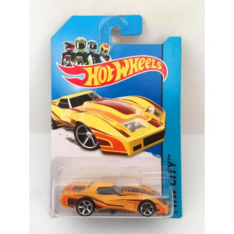 Hot Wheels - 76 Greenwood Corvette Amarelo - Mainline 2014
