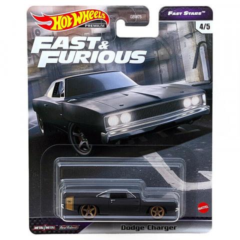 Hot Wheels - Dodge Charger Preto Fosco - Fast Stars - Fast Furious