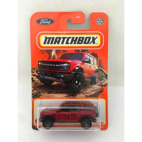 Matchbox - 2021 Ford Bronco Vermelho - Básico 2021