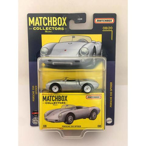 Matchbox - Porsche 550 Spyder Cinza - Matchbox Estd. Collectors 2021