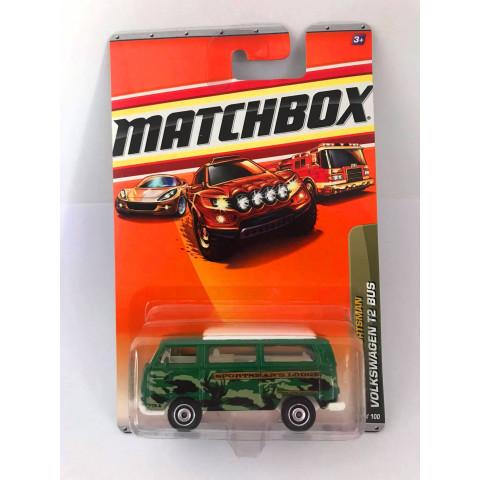Matchbox - Volkswagen T2 Bus Verde - Outdoor Sportsman - Básico 2010