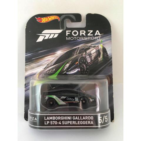 Hot Wheels - Lamborghini Gallardo LP 570-4 Superleggera Preto - Forza Motorsport - Retro - Leia Descrição