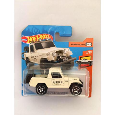Hot Wheels - 67 Jeepster Commando Branco - Cartela Curta - Mainline 2019