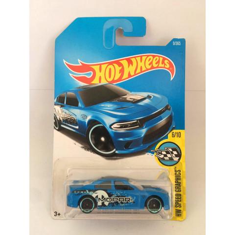 Hot Wheels - 15 Dodge Charger SRT  Azul - Mainline 2017