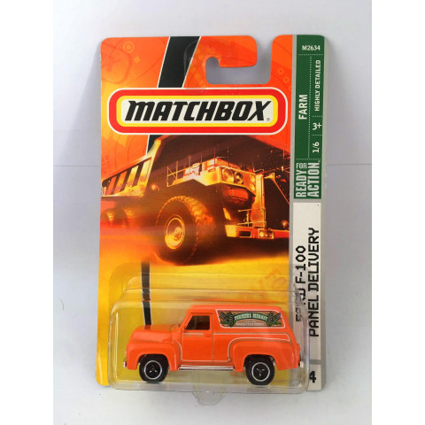Matchbox - Ford F-100 Panel Delivery Laranja - Ready for Action
