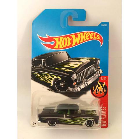 Hot Wheels - 55 Chevy Preto - Mainline 2017