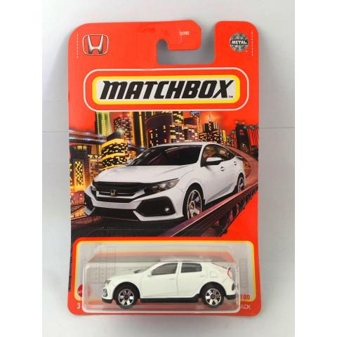 Matchbox - 2017 Honda Civic Hatchback Branco - Básico 2021