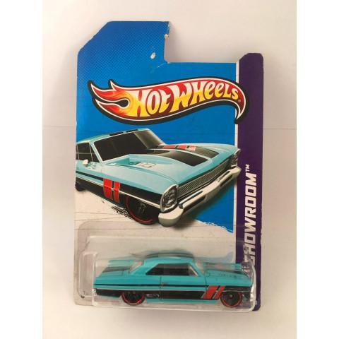 Hot Wheels - 66 Chevy Nova  Azul - Mainline 2013