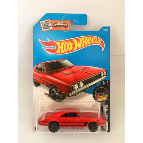 Hot Wheels - 69 Dodge Charger 500 Vermelho - Mainline 2016