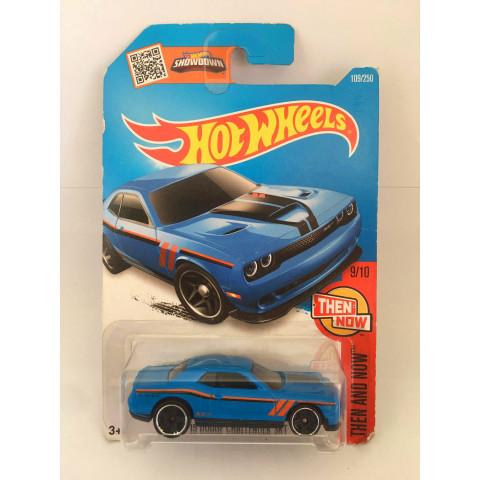 Hot Wheels - 15 Dodge Challenger SRT  Azul- Mainline 2016