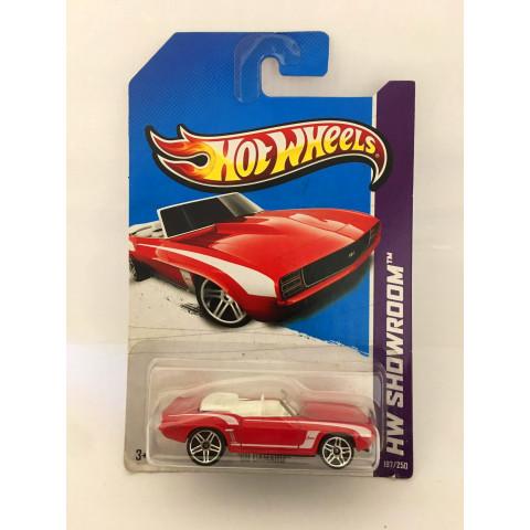 Hot Wheels - 69 Camaro Vermelho - Mainline 2013