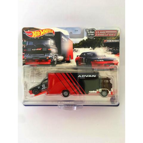 Hot Wheels - Nissan Skyline GT-R(BNR32) / Sakura Sprinter Preto - Team Transport