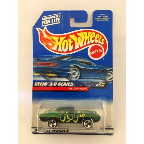 Hot Wheels - Olds 442 Verde - Mainline 2000