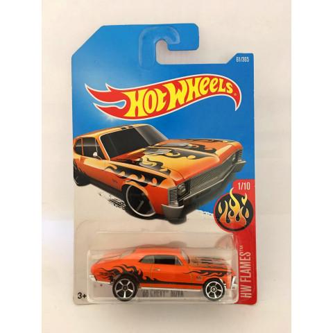 Hot Wheels - 68 Chevy Nova Laranja - Mainline 2017