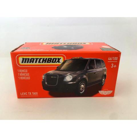 Matchbox - Levc Tx Taxi Preto - Power Grabs - Básico 2021