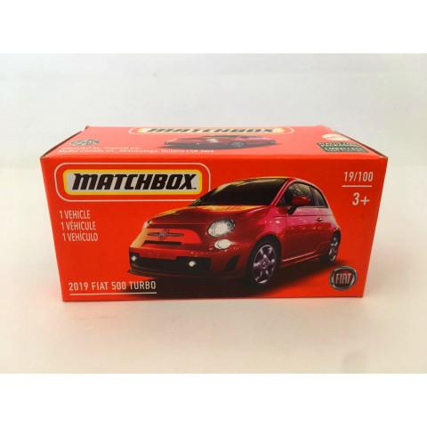 Matchbox - 2019 Fiat 500 Turbo Vermelho - Power Grabs - Básico 2021