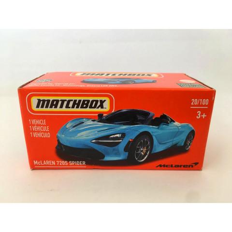 Matchbox - McLaren 720S Spider Azul - Power Grabs - Básico 2021