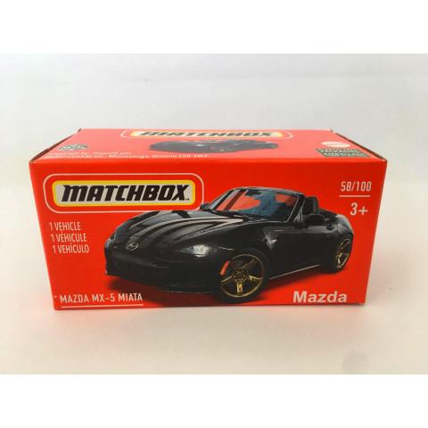 Matchbox - Mazda MX-5 Miata Preto - Power Grabs - Básico 2021