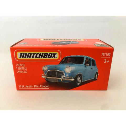 Matchbox - 1964 Austin Mini Cooper  Azul - Power Grabs - Básico 2021