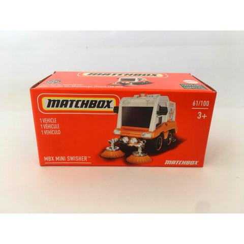 Matchbox - Mbx Mini Swisher Branco - Power Grabs - Básico 2021