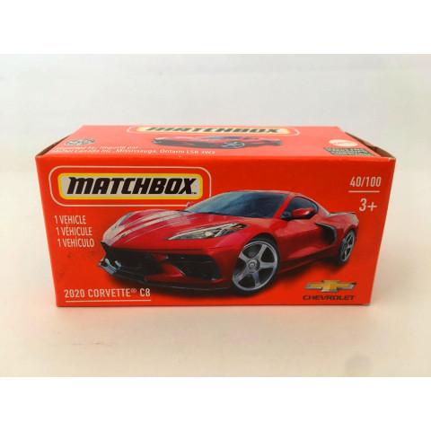Matchbox - 2020 Corvette C8 Vermelho - Power Grabs - Básico 2021