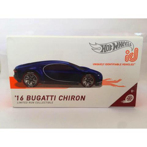 Hot Wheels - 16 Bugatti Chiron Azul - ID Uniquely Identifiable Vehicles