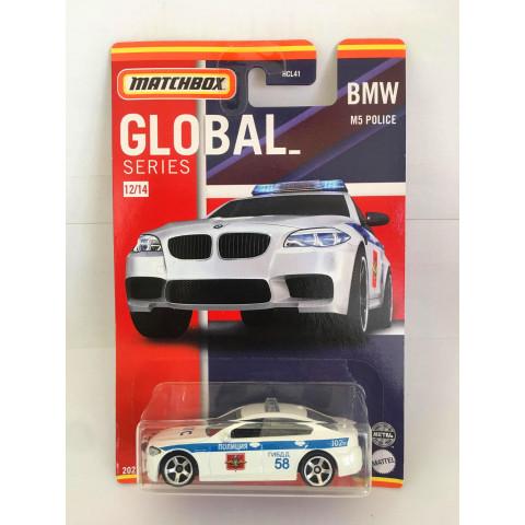 Matchbox - BMW M5 Police Branco - Global Series