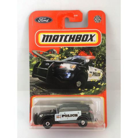 Matchbox - 2016 Ford Interceptor Utility Preto - Básico 2021