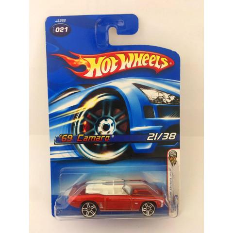 Hot Wheels - 69 Camaro Vermelho - Mainline 2006