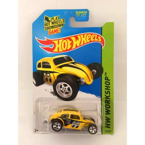 Hot Wheels - Custom Volkswagen Beetle Amarelo- Mainline 2014